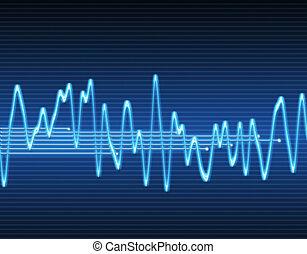 sinus, son, électronique, vague