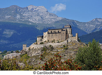 Sion castle of Valere fortified church, Switzerland