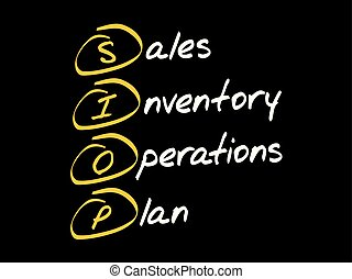SIOP acronym business concept - SIOP - Sales Inventory...