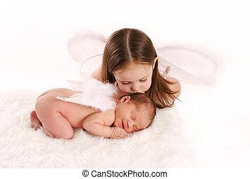 siostra, anioły