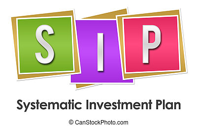 SIP - Systematic Investment Plan Colorful Blocks - SIP -...