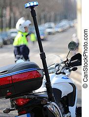 siréna, strážník, kupčit, tera, blýskání, motocykl