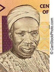 Sir Abubakar Tafawa Balewa on 5 Naira 2006 Banknote from...