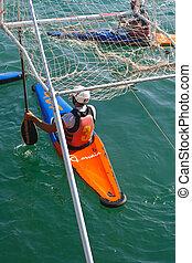 Canoe polo competition