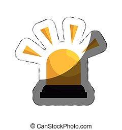 siren alarm isolated icon