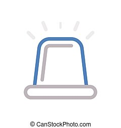 siren color line icon