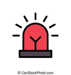 siren  flat color icon