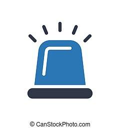 siren glyph color icon