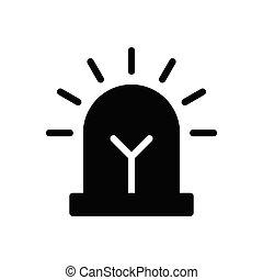 siren  glyph flat icon