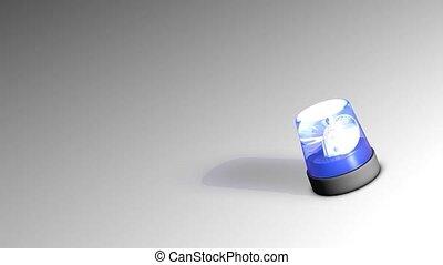 Siren light - Emergency blue siren light.