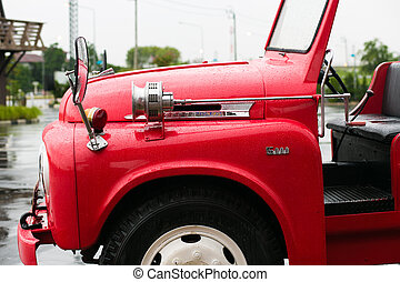 siren on old fire truck