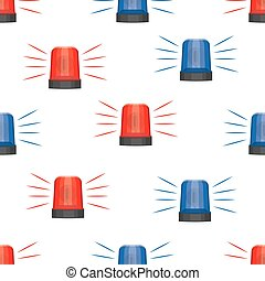 siren police lights seamless pattern