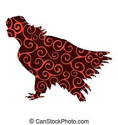 Sirena bird pattern silhouette ancient mythology fantasy