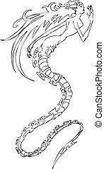 sirena, illustrazione