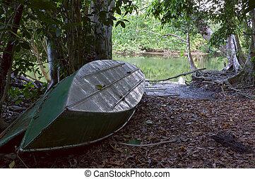 Sirena River Boats at Corcovado National Park
