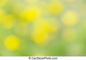 sirface, abstratos, -, manchas, verde, fundo amarelo, blurry