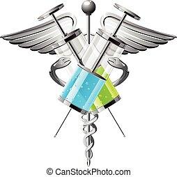siringa, medicina, vetorial, ilustração