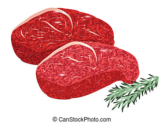 sirloin steak isolated on a white background
