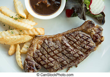 Sirloin steak with