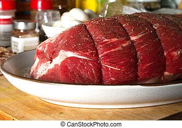 Sirloin tip Roast - Sirloin Tip roast prepared for dinner