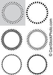 sis , στοιχεία , & , μαύρο , σχεδιάζω , άσπρο