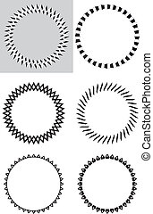 Sis black & white design elements