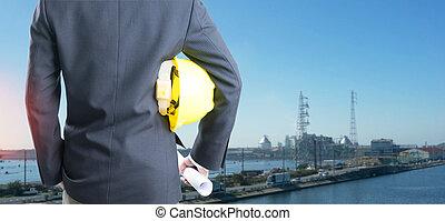 sisak, berendezés, erő, megkettőz, iparág, háttér., biztonság, konstruál, kitevés