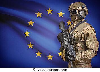 sisak, birtok, egyesítés, sorozat, -, pisztoly, gép, katona, lobogó, háttér, európai
