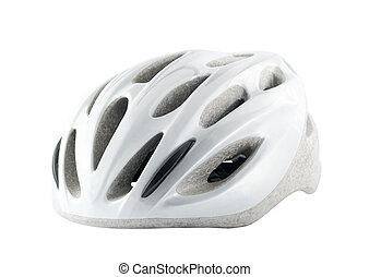 sisak, fehér, bicikli, elszigetelt, háttér