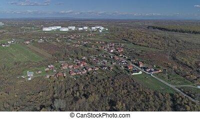 Sisak Romani village aerial - Aerial view of the Romani ...