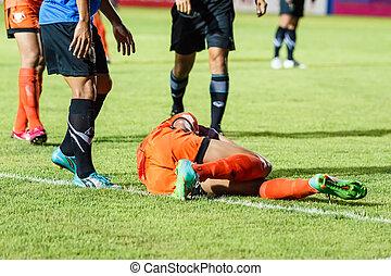 SISAKET THAILAND-MAY 21: Santirat Viang-in of Sisaket FC....