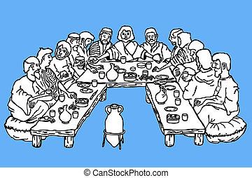 sista kvällsmat