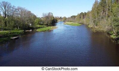 Sista river, Leningrad region, Lomonosov district, Russia ...