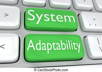 sistema, adaptability, conceito