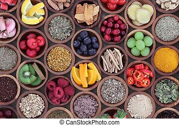 sistema, alimento, salud, alza, inmune