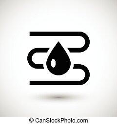 sistema de provisión de agua, calefacción, icono