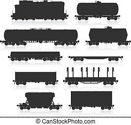 sistema del tren, wagons., carga