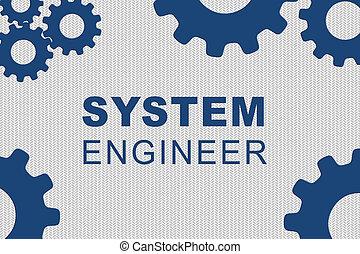 sistema, engenheiro, conceito