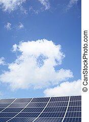 sistema, generación, luz del sol