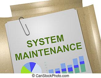 sistema, manutenção, conceito