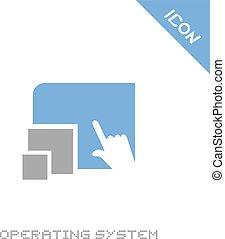 sistema operacional, ícone