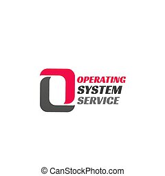 sistema operacional, serviço, ícone