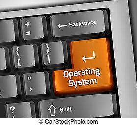 sistema operativo, ilustración, teclado