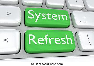 sistema, refrescar, conceito