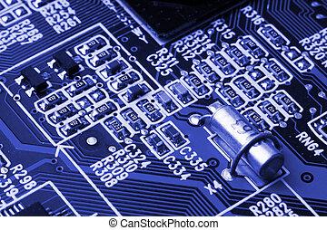sistema, scheda madre, computer, e, elettronica, fondo