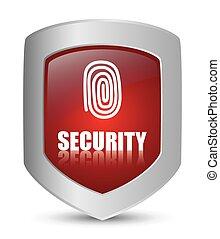 sistema segurança, design.