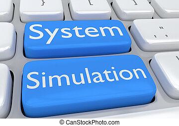sistema, simulação, conceito