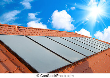sistema solar, telhado