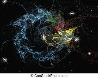 sistema solare, con, uno, disegno