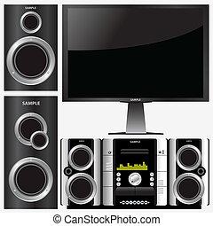 sistema stereo, circondare